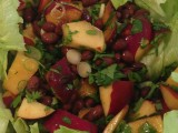 Nectarine and black bean salad