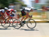 Cyclist racing