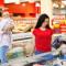 Women shopping in grocery store