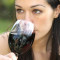 girl drinking red wine