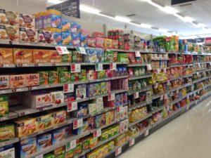 muesli bars in supermarket