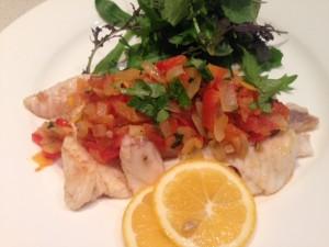Fish and vege salsa