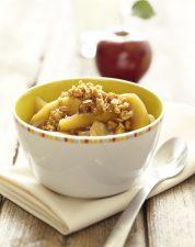 Apple Cobbler on harvest table